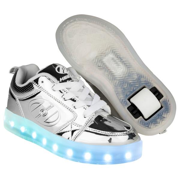 Heelys Premium Lights Lo Silver/Chrome UK 12