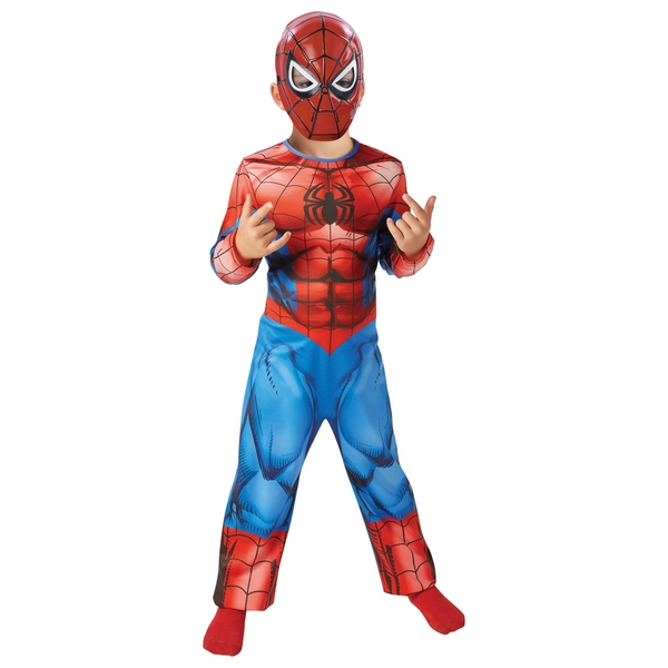 Marvel Spider-Man Costume Set & Mask Medium