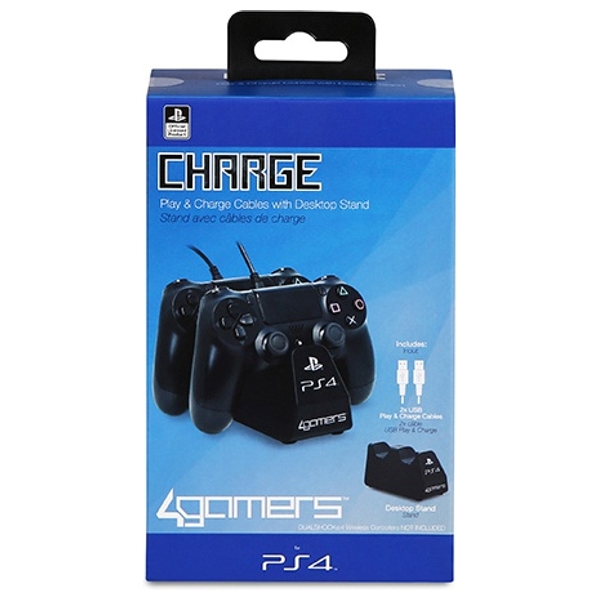 PlayStation 4 Twin Play and Charge Cable - Black