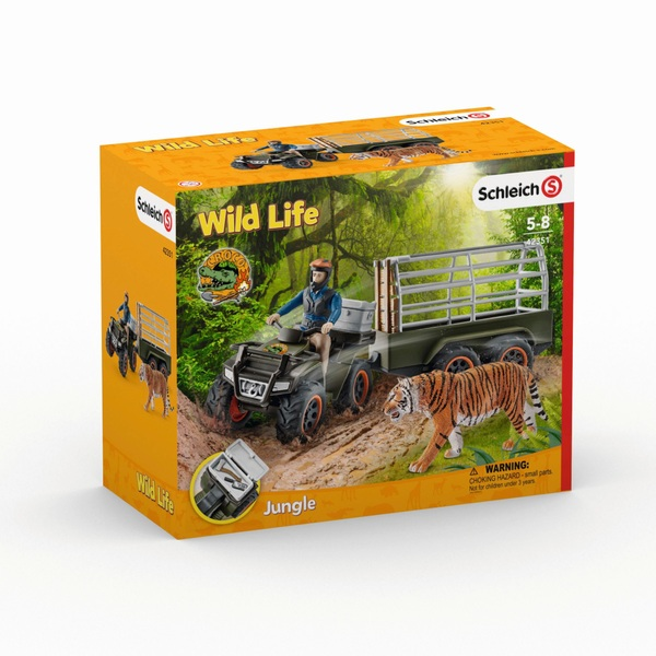 Schleich Wild Life: Quad & Trailer Playset