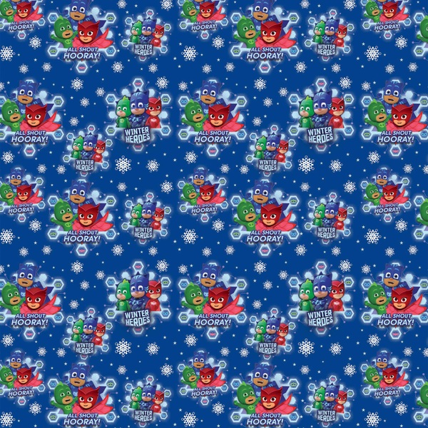 PJ Masks Christmas Wrapping Paper 4m