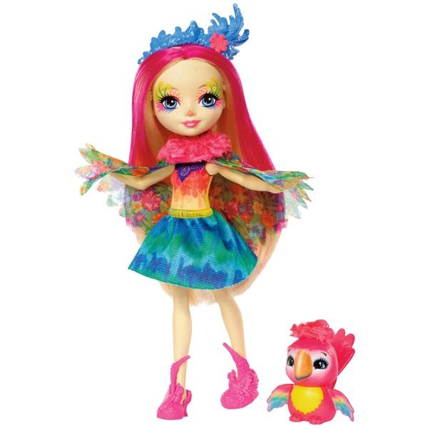 Enchantimals Peeki Parrot Doll and Parrot Friend Sheeny Figure