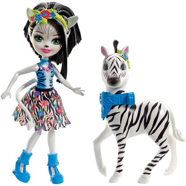 Enchantimals Zelena Zebra Doll and Zebra Friend Hoofette Figure