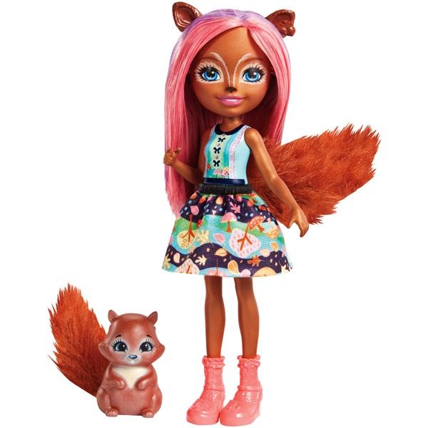 Enchantimals Sancha Squirrel Doll And Squirrel Friend
