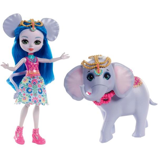 Enchantimals Ekaterina Elephant Doll and Elephant Friend Antic Figure