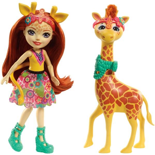 Enchantimals Gillian Giraffe Doll and Giraffe Friend Pawl Figure
