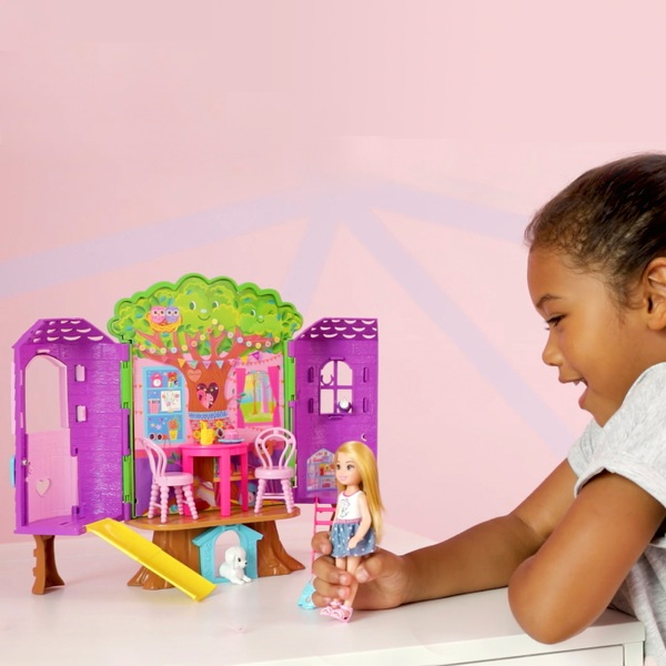Barbie Chelsea Treehouse Portable Playset with Doll Included