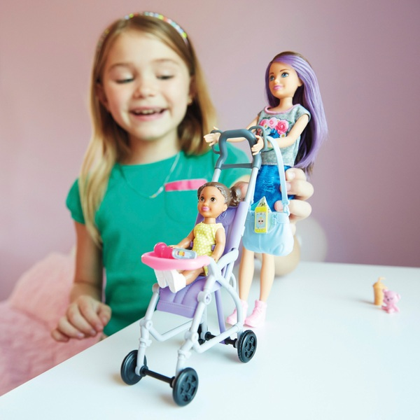 Barbie Skippers Babysitter Stroller Playset