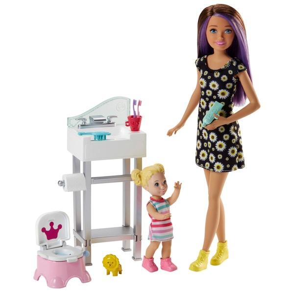 Barbie Skippers Babysitter Bathroom Playset Barbie Uk