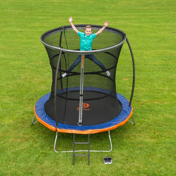 jump power 8ft trampoline and enclosure trampolines uk. Black Bedroom Furniture Sets. Home Design Ideas