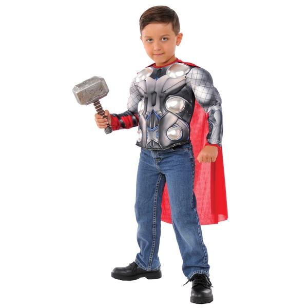 Marvel Thor Medium Costume Top Set with Hammer