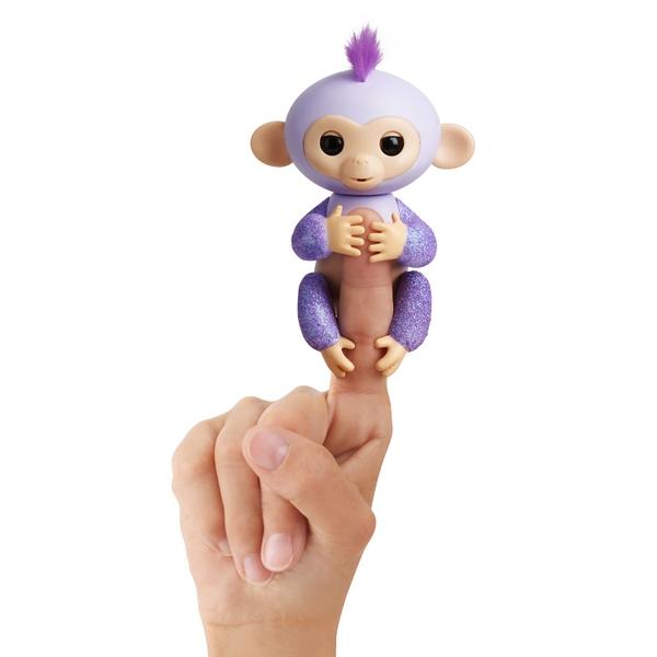 Fingerlings Glitter Monkey Kiki Purple Glitter