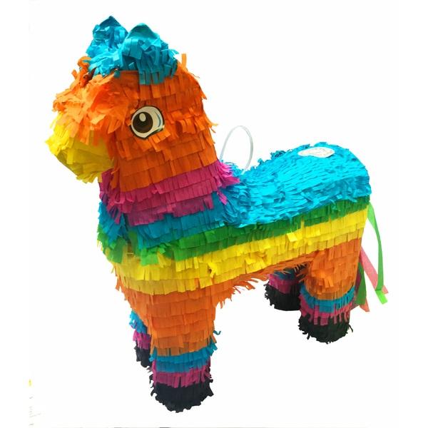 Multi-Coloured Donkey Pinata