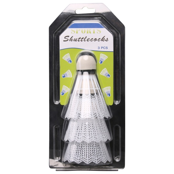 White Shuttlecocks 3 Pack
