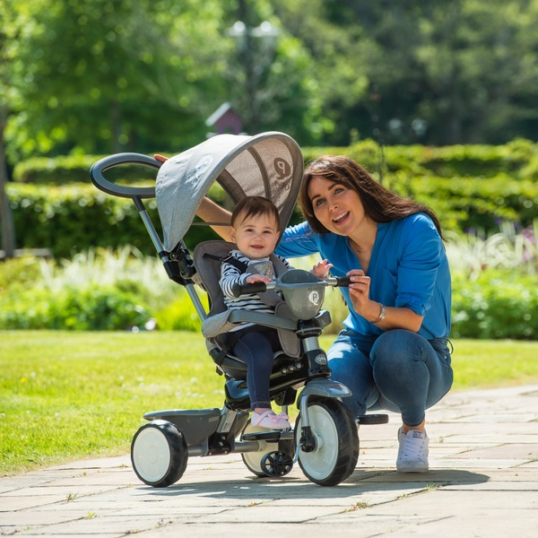 Q Play Comfort 4-IN-1Trike Grey