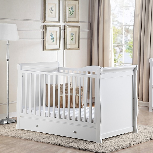 Nested Somerset Sleigh Cot Bed