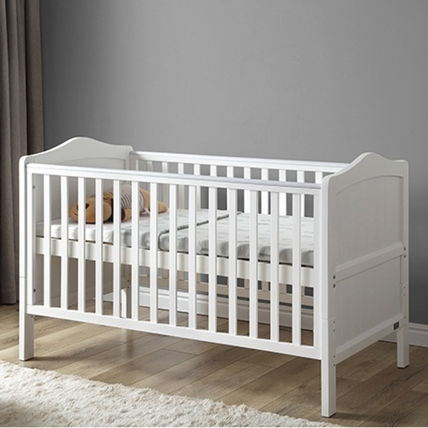 Nested Sorrento Cot Bed White - Cot & Cot Beds UK