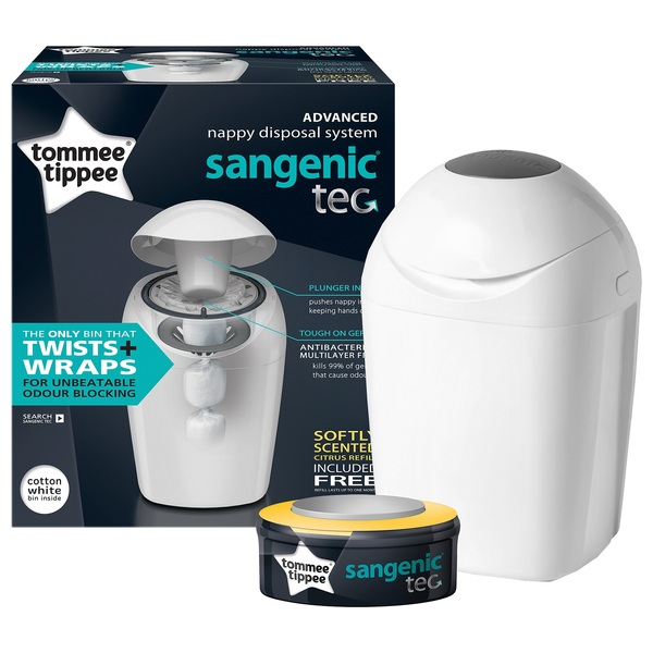 Tommee Tippee Sangenic Tec Nappy Disposal System (White)