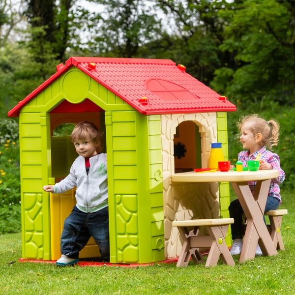 92ba3f343 Deluxe Playhouse with Table and Chairs - Play Houses & Tents UK