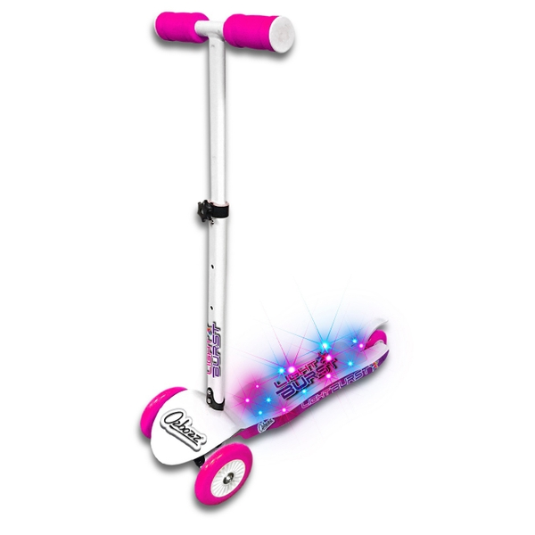 Light Burst Pink and White Scooter