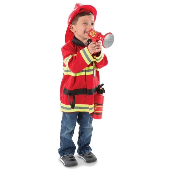 Melissa & Doug Fire Chief Dress Up Costume Set