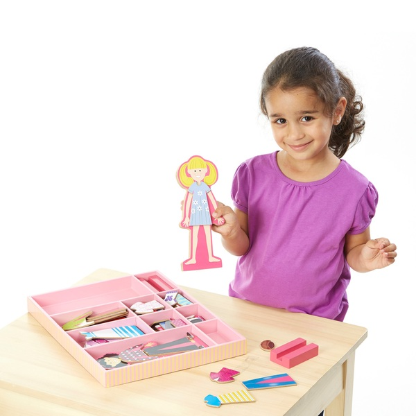 Melissa & Doug Magnetic Wooden Dress Up Doll