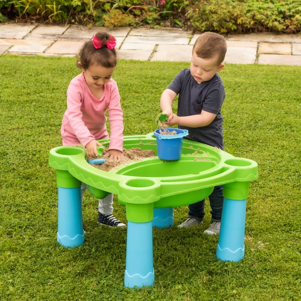 sand and water play table with accessories - sand and water tables
