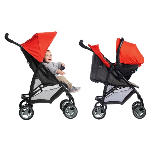 Graco Literider Travel System - Black and Red
