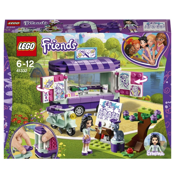 LEGO 41332 Friends Heartlake Emma's Art Stand Trailer Toy