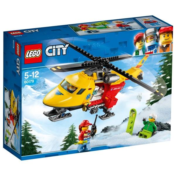 LEGO 60179 City Vehicles Ambulance Toy Helicopter Playset