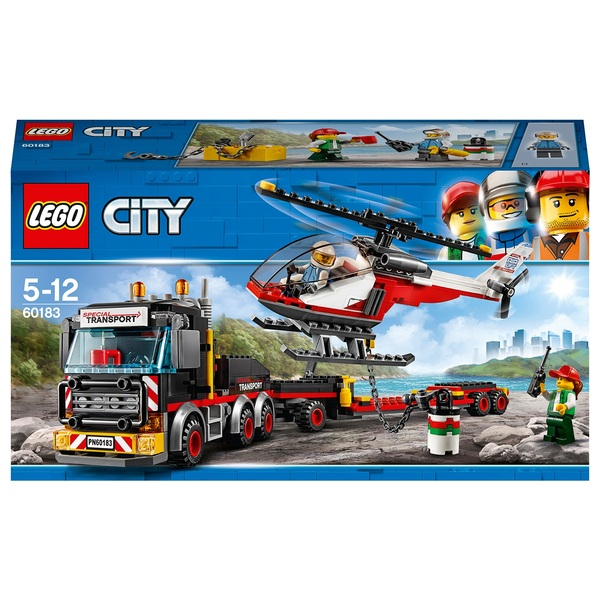 LEGO 60183 City Vehicles Cargo Transport Toy Truck & Helicopter