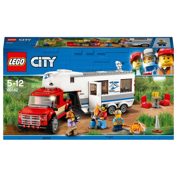 lego 60182 city pickup and caravan lego city uk. Black Bedroom Furniture Sets. Home Design Ideas