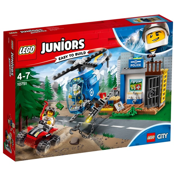 LEGO 10751 Juniors Mountain Police Chase Helicopter Toy