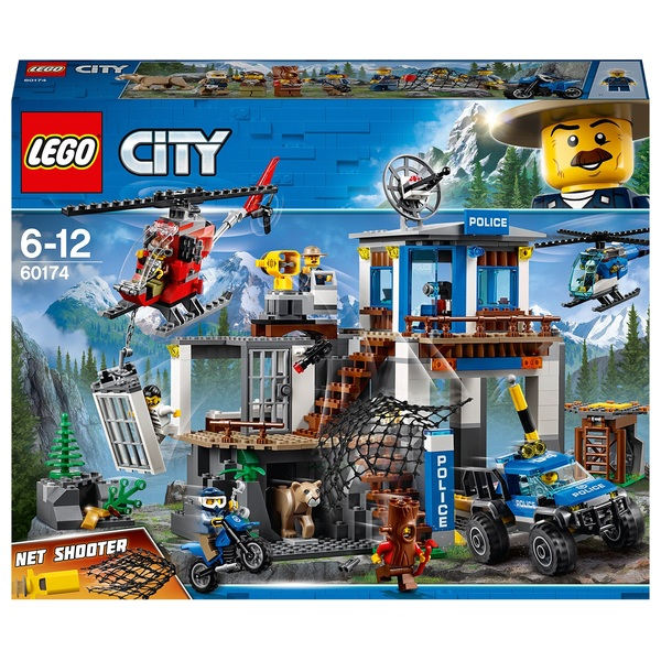 LEGO 60174 City Police Mountain Headquarters Toy Helicopter & Car