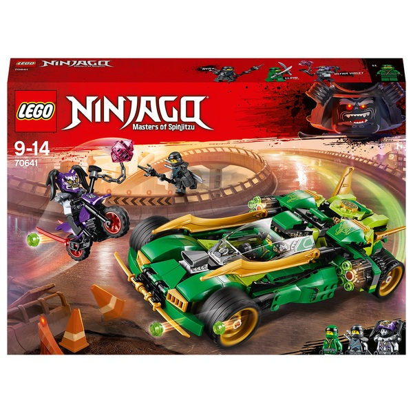 LEGO 70641 Ninjago Ninja Nightcrawler Toy Car and Bike Set