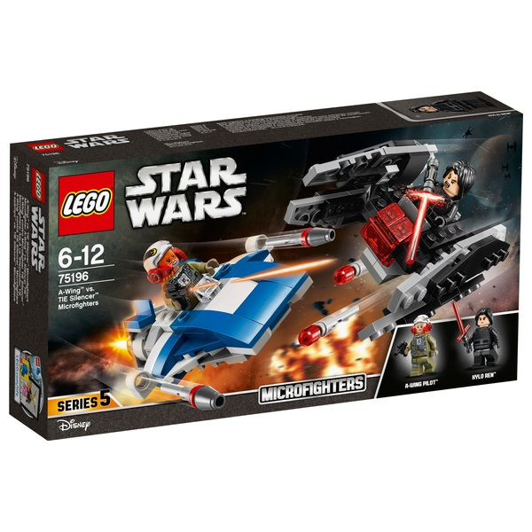 LEGO 75196 Star Wars A-Wing vs. TIE Silencer Microfighters Toy