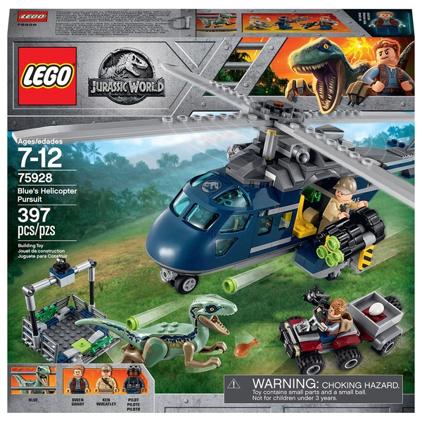 LEGO 75928 Jurassic World Blue's Helicopter Pursuit Dinosaur Toy