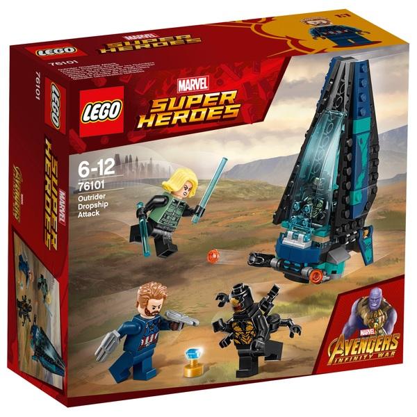 LEGO 76101 Marvel Avengers Outrider Dropship Superhero Toy