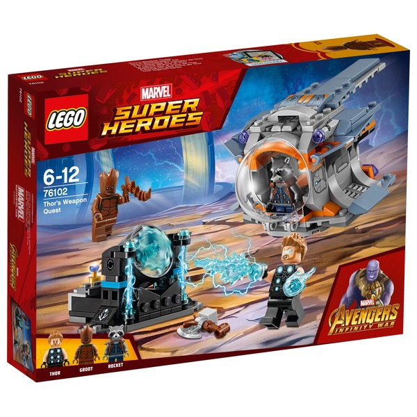 LEGO 76102 Marvel Avengers Thor's Weapon Quest Superhero Toy