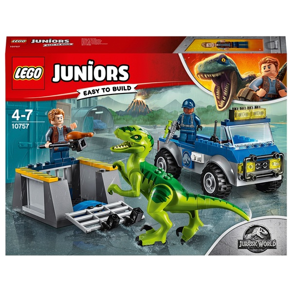 LEGO 10757 Juiors Jurassic World Raptor Rescue Dinosaur Toy