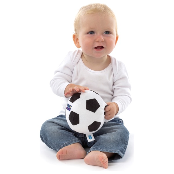 Playgro My First Soccer Ball - Black and White