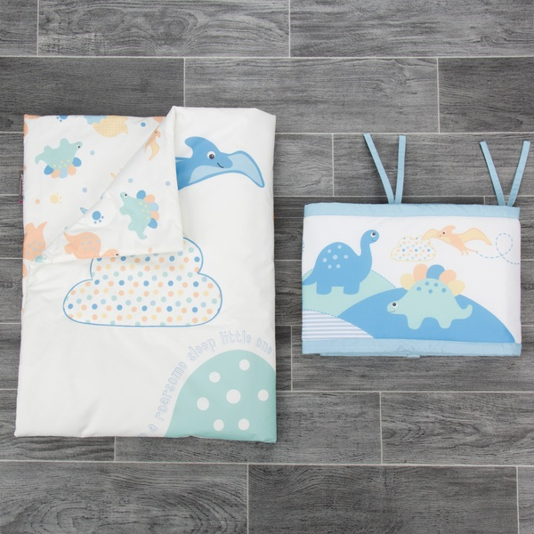 CuddleCo Comfi Dreams - 2 Piece Roarsome Dreams Quilt and Bumper Bedding Set