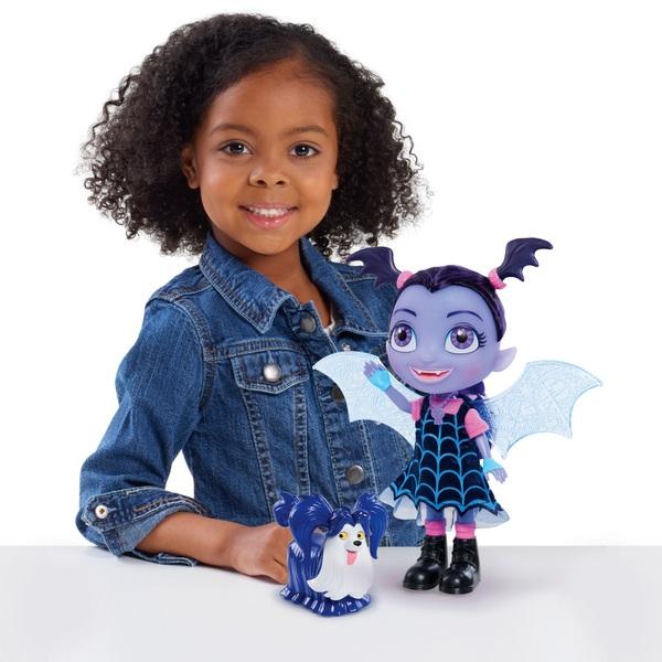 Vampirina Bat-Tastic Talking Vampirina Doll and Wolfie Friend Figure
