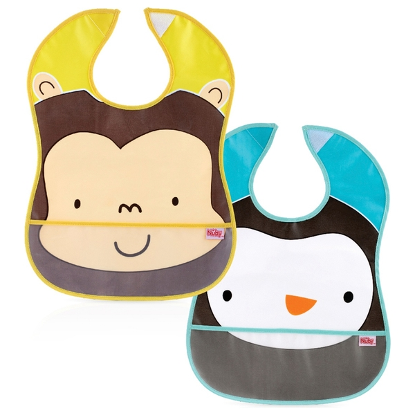 Nuby Catch All Peva Bib 2 Pack - Assortment
