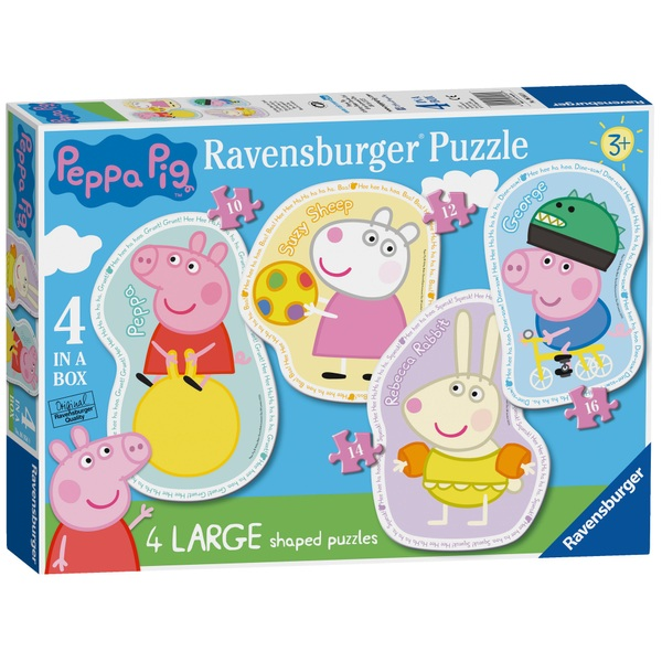 Ravensburger Peppa Pig: 4 Shaped Jigsaw Puzzles