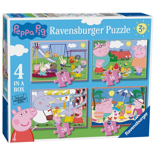 Ravensburger Peppa Pig 4 in a Box Jigsaw Puzzles
