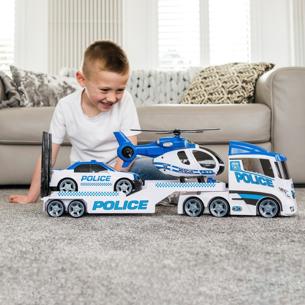 Teamsterz Police Helicopter Transporter Play Set