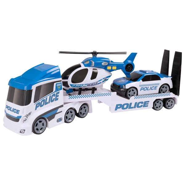 Cars 2 Lights Sounds Lightning: Teamsterz Police Helicopter Transporter Play Set