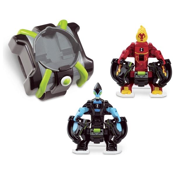 Ben 10 Heatblast and XLR8 Omni Launch Battle Figures