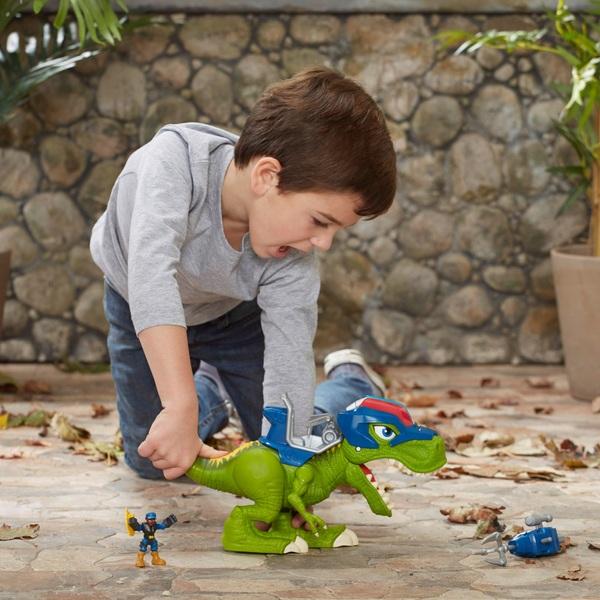Playskool Heroes Chomp Squad Troopersaurus and Bobby Badge